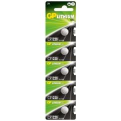 Lot de 5 piles bouton GP Lithium CR1220