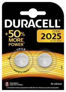 pack de 2 piles bouton CR2025 DL2025 duracell 3v 1,5a