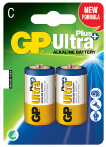 Piles alcaline type C (LR14) GP Ultra Plus - Lot de 2