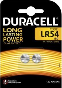Pack de 2 piles bouton 1,5 V type LR45 Duracell.