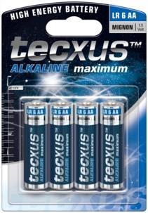 Tecxus piles LR6 type AA - Lot de 4