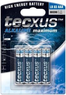 Tecxus piles LR03 type AAA - Lot de 4