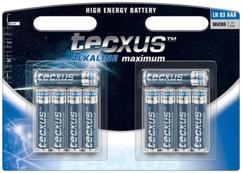 Tecxus piles LR03 type AAA - Lot de 10