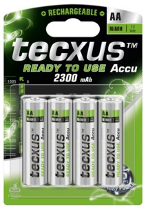 4 accus AA Nimh Ready To Use - 2100 mAh