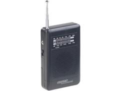 mini radio fm de poche avec haut parleur et ecouteurs design retro