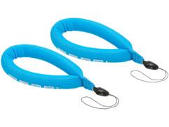 2 dragonnes bleues flottantes pour caméra sous-marine