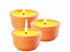 3 bougies anti-insectes