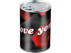 Boite métallique cadeau - I love You - Ø 78 x 111 mm