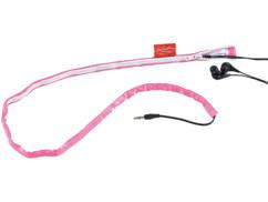 Gaine pour câble d'écouteurs audio - Rose fluo