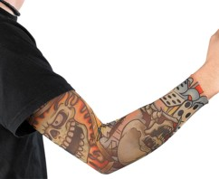 Manchette au look tatouages motif ''Skull''