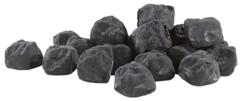 20 pierres décoratives pour cheminée au bioéthanol - Noir