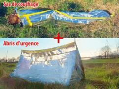 Set complet sac de couchage + Tente de survie