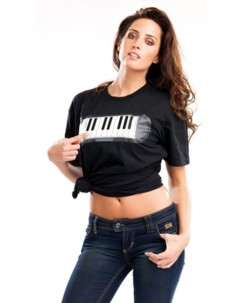 T-Shirt musical piano - taille S