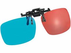 Verres de lunettes 3D amovibles à technologie anaglyphique