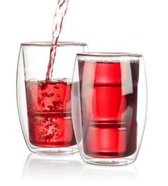 2 verres double paroi - 38 cl