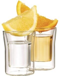 6 verres à shot double paroi