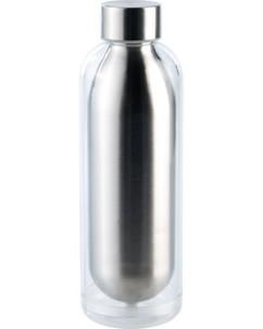 bouteille isotherme double paroi style aluminium brossé 50 cl pour été