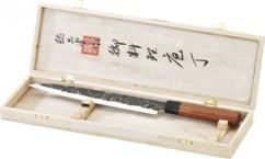 Couteau à filets avec lame forgée main et manche en bois