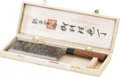 Hachoir chinois avec manche en bois