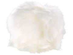 fourrure blanc décoration pour alrme de poche antivol anti agression anti viol visortech