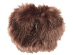fourrure brun décoration pour alrme de poche antivol anti agression anti viol visortech