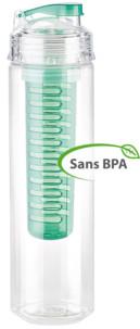 Gourde 0.8 L avec filtre pour herbes et fruits - Vert