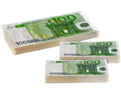 Lot de mouchoirs et serviettes en papier imprimés 100 Euros