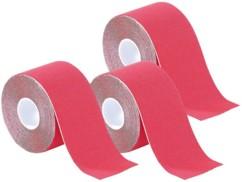 Pack de 3 bandes de kinésiologie pour sport (5 m) - Rouge