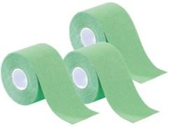 Pack de 3 bandes de kinésiologie pour sport (5 m) - Vert