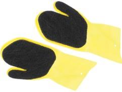 Paire de gants de brossage pour barbecue