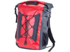 sac a dos etanche 40 L rouge spécial trekking randonnée en toile pvc semptec avec anses réglables