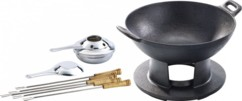Service à wok en fonte