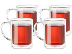 Set de 4 mugs à double paroi