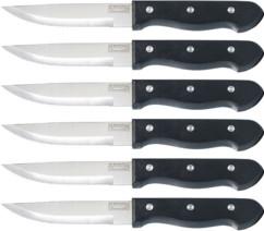Set de 6 couteaux à viande en inox