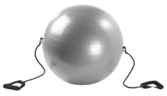 gym ball avec tendeur pour musculation dos abdos et bras
