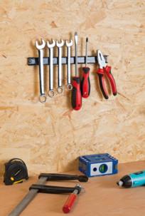 barre magnétique 30 cm pour organisation des outils et ustensiles Pearl