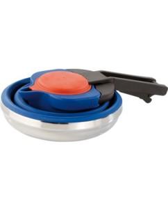 bouilloire en silicone pliable pour randonnée et camping compatible tous feux contenance 120 cl