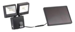 double projecteur led de jardin avec alimentation solaire et detecteur infrarouge pir luminea