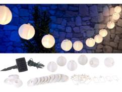 Guirlande LED solaire 3,8 m à 20 mini-lampions – blanc chaud