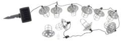 guirlande lumineuse d'extérieur forme mini lanternes en métal avec panneau solaire lunartec
