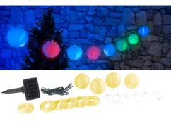 Guirlande LED solaire 3,8 m à 20 mini-lampions - multicolore