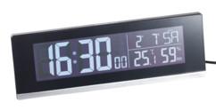 horloge digitale a grands chiffres avec date temperature niveau d'humidité infactory