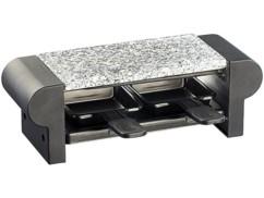 Mini-raclette ''Duo'' avec gril et pierre à cuisson - noir