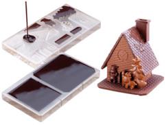 Moule à chocolat - ''Maison de Noël''