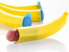 4 moules à glace en forme de banane