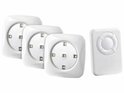 Pack de 3 spots à LED ''FlexiLight'' avec télécommande