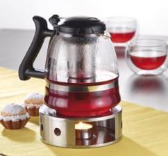 Réchaud à thé en acier inoxydable satiné, 15 cm
