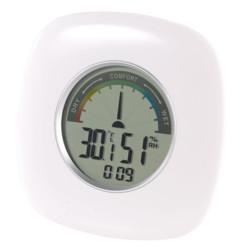 thermometre digital avec temperature taux d'humidité zone de confort et heure Pearl