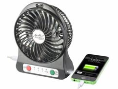 Ventilateur de table 3 en 1 sans fil avec fonction batterie d'appoint