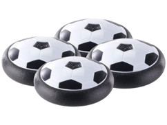 4 ballons de football aéroglisseurs d'intérieur